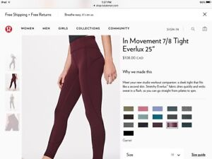 GET THESE NEW LULULEMON SIZE 10 TIGHTS FOR ONLY $60!!!