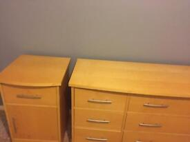 Andersons of Inverurie chest of drawers and bedside unit