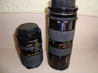 Canon FD fitting Manual lenses Tamaron 85-210 +Miranda 35-105mm Zoom
