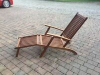 Garden steamer chair/lounger