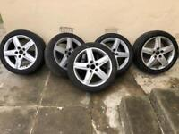 Set of 5 alloys - come from a Audi A6 or Audi A3 the size is 17 inc