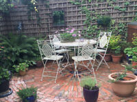 Metal Patio Table and 4 Chair, Suits Cottage Garden