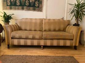 3 Seater Sofa in Yellow / Gold / Cream