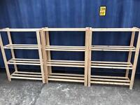 3 x pine shelf units FREE DELIVERY PLYMOUTH AREA