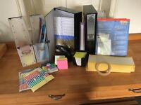 Selection of office accessories