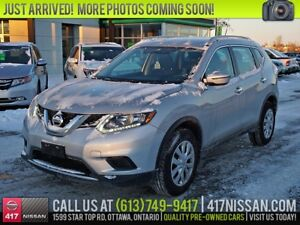 2016 Nissan Rogue S AWD | Rear Camera, Cruise, Bluetooth