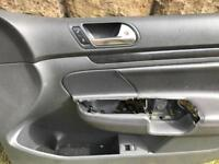 Driver , passenger + rear passenger side leather door card , quarter glass, trim mk5 Gti golf vw