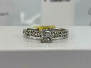 #311 14K White Gold Princess Cut Diamond Engagement Ring *SIZE 5 1/2* APPRAISED AT $3100.00!