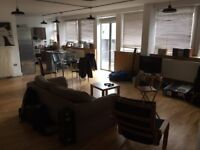 Fabulous loft-like 2 bed apartment in St Pauls - part furnished, parking, outside space