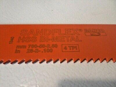 Qty 5 Bahco Sandflex Bi-metal Power Hacksaw Blade 3809 700 X 50 X 2.5 4 Tpi 28
