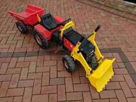 Childs Toy Sit on Tractor & Trailer