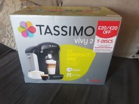 Coffee machine for sale - Tassimo Vivy 2 NEVER USED STILL IN BOX