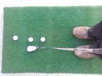 ##Golfers Chipping Mat