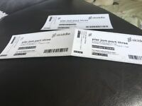 3 pier jam tickets Saturday 23rd sept unable to go just want what I paid
