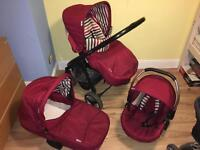 Hauck lacrosse red Pram pushchair