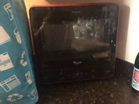 Whirlpool max red microwave