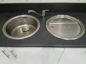 Blanco stainless steel sink and drainer £200 new