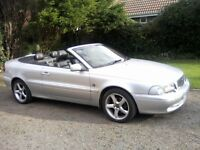 VOLVO C70 2-0 CONVERTIBLE 2002 (52 PLATE). FULL SERVICE HISTORY, 12 MONTHS MOT ON PURCHASE.