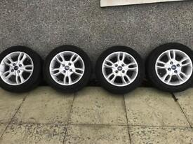 Genuine Ford Fiesta Alloys with tyres