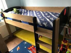 Mid-sleeper bed single size