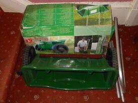Universal spreader cart garden seeder fertiliser