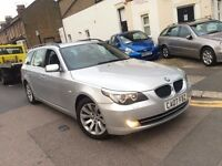 BMW 520D DIESEL TOURING 2007 FACELIFT 1 FORMER OWNER 11 STAMPS LONG MOT FULL LEATHERS CLEAN