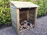 Log Store Garden Furniture shed dry large