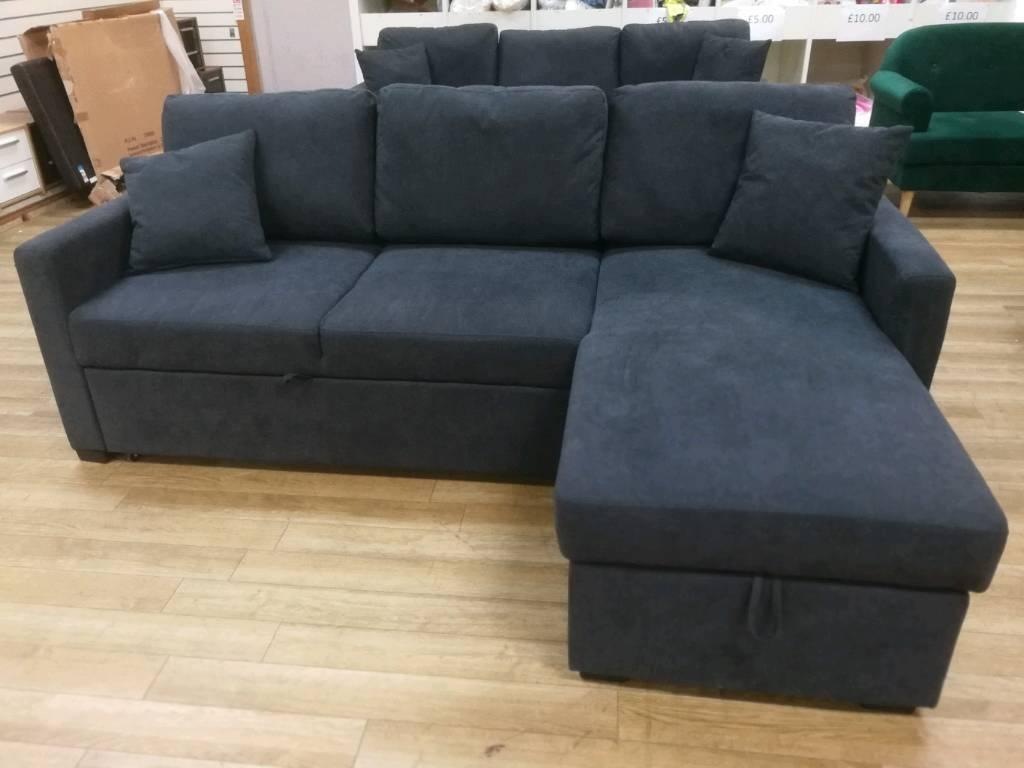 Super Grey Fabric Corner Sofabed With Storage In Hamilton South Lanarkshire Gumtree Inzonedesignstudio Interior Chair Design Inzonedesignstudiocom