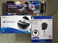 PlayStation 4 Virtual Reality Headset, Gun, Stand and Move controller or PS4 Games