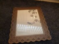 Photograph frame - Metal lace pattern