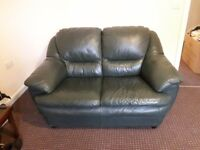 3 and 2 seater leather sofa . Ready to collect.