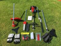 52cc Petrol 5 in 1 Garden Multi Tool Hedgetrimmer Strimmer Chainsaw etc.
