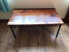 Wooden/metal coffee table