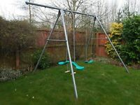 TP double swing and skyride in steel, includes an addition bar to add a third swing if required