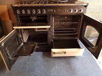 AGA Rangemaster Classic 110cm Dual Fuel Cooker + Griddle/Wok burner +Splashback