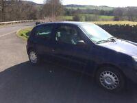 Renault Clio 1.2 long mot newton aycliffe