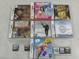 NINTENDO DS GAMES 9 in TOTAL ALL WORKS PERFECTLY