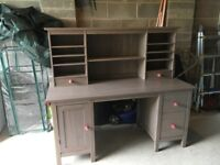 Ikea Brown Hemnes Desk office table with add on unit RRP £325 Good condition £100 or nearest offer