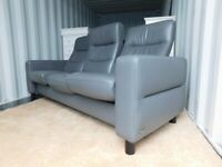 Ekornes Stressless Wave Three Seater Reclining Sofa (Delivery)