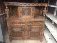 Antique Oak Court Cupboard - Jacobean style