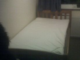 Exellent Cond.Nice solid wooden frame and very comfy mattress