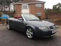 2004 AUDI A4 SPORT CABRIOLET AUTO ** RED LEATHER ** FINANCE AVAILABLE ** ALL CARDS ACCEPTED