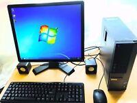 FAST dell intel i3 processor, 3.3ghz, 6gb ram, 500gb, windows 7, office, 20inch Monitor, wifi, hdmi