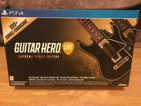Ps4 Guitar Hero Game Plus 2 Guitars