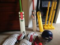 Full Cricket Set with 2 outdoor Cricket Bats and more!!