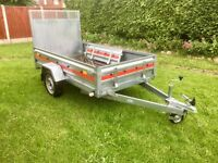 TEMA 8 x 4 ft Trailer with Large Ramp and Tailgate