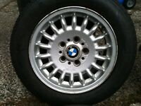 4 15inch BMW E36 Bottletop Winter Alloys All Good Tyres