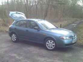 NISSAN ALMERA 1.5 PETROL MANUAL, MOT'D BUT NEEDS AIRCON PULLEY, SPARES / REPAIRS EASY PROJECT