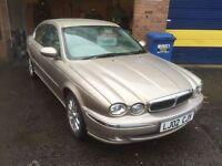 2002 jaguar x type 2.5 v6 12 months mot