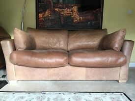 Beautiful aniline leather 3 seater sofa